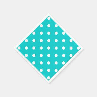 Teal Polka Dot Disposable Serviette