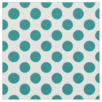 Teal Polka Dot Fabric