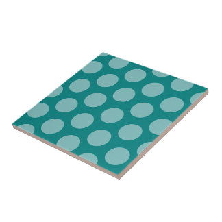Teal Polka Dot tile