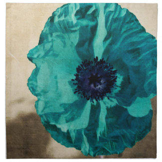 Teal Poppy Napkin