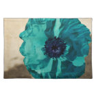 Teal Poppy Placemat