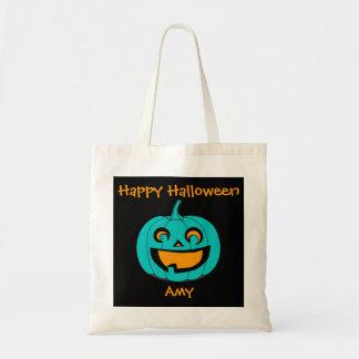 Teal Pumpkin Halloween Treat Bag