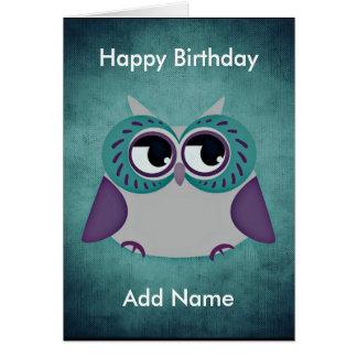 Teal & Purple Custom Birthday Card