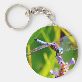 Teal purple Dragonfly Key Chain