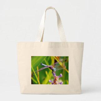 Teal & purple Dragonfly Tote Bag