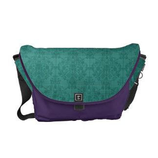 Teal & Purple Patterned Rickshaw Messenger Bag