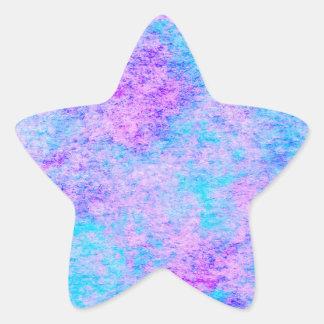 teal, purple, watercolor, pattern star sticker