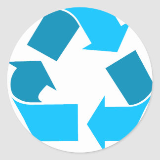 teal recycle stickers