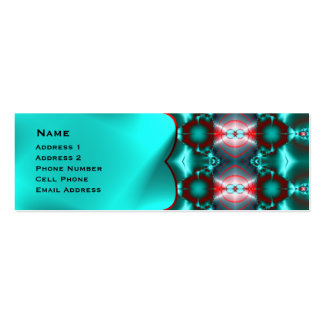 Teal Red Colorful Abstract Pack Of Skinny Business Cards