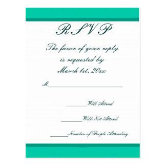 Teal & Red Wedding Postcard