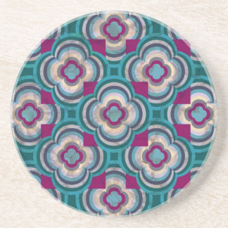 Teal Reflections Coaster