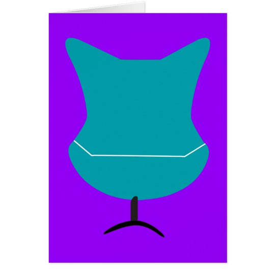 Teal Retro Chair All-Purpose Note Card