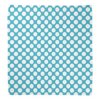 Teal Retro Colorful Modern Polka Dot Pattern Bandana