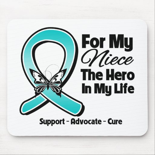 Teal Ribbon For My Hero My Niece Mousepad