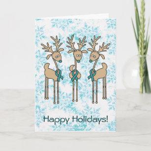 Ovarian Cancer Christmas Cards Zazzle Uk
