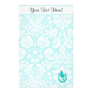 Teal Rodeo Custom Stationery