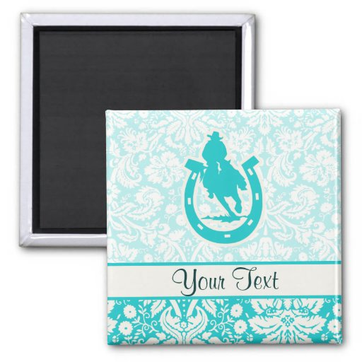 Teal Rodeo Magnets