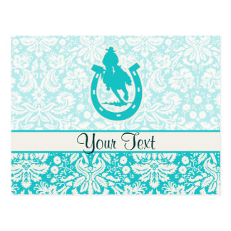 Teal Rodeo Post Cards