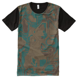 Teal Rust All-Over Print T-Shirt