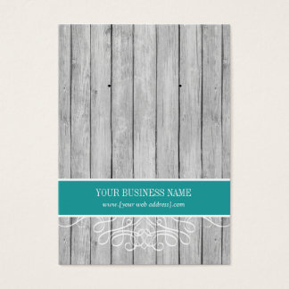Teal Rustic Wood Custom Earring Card