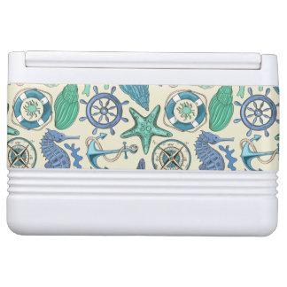 Teal Sea Animals Pattern Igloo Cool Box