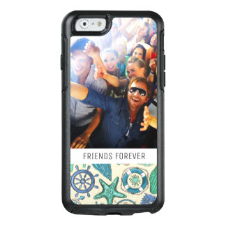 Teal Sea Animals Pattern | Your Photo & Text OtterBox iPhone 6/6s Case