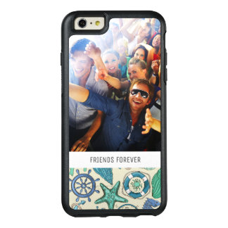 Teal Sea Animals Pattern | Your Photo & Text OtterBox iPhone 6/6s Plus Case