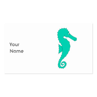 Teal Seahorse Pack Of Standard Business Cards