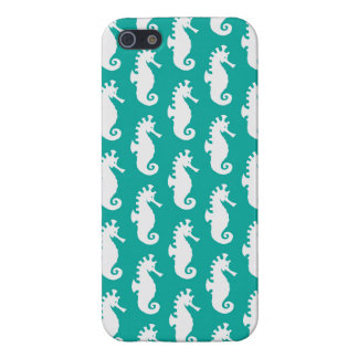 Teal Seahorse Pattern 1 iPhone 5/5S Cases