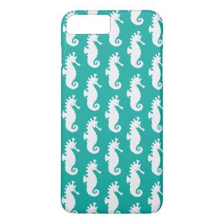 Teal Seahorse Pattern 1 iPhone 8 Plus/7 Plus Case