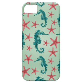 Teal Seahorse Pattern 2 Case For The iPhone 5