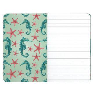 Teal Seahorse Pattern 2 Journal
