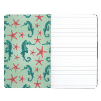 Teal Seahorse Pattern 2 Journals