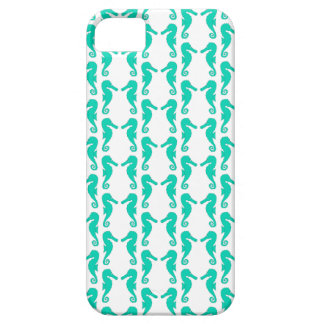 Teal Seahorse Pattern Barely There iPhone 5 Case