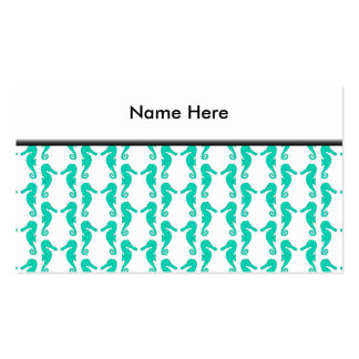 Teal Seahorse Pattern Pack Of Standard Business Cards