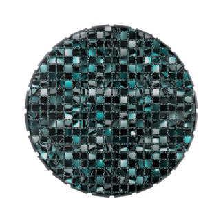 Teal Sequin Effect Candy Tin