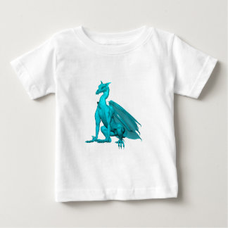 Teal Sitting Dragon Baby T-Shirt