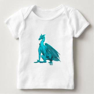 Teal Sitting Dragon Baby T-Shirt