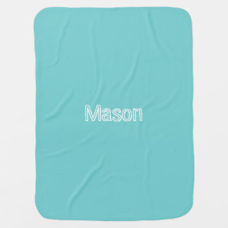 Teal Sky Personalized Baby Blanket