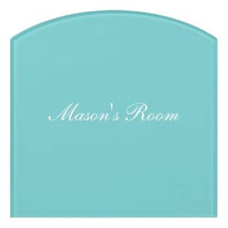 Teal Sky Personalized Room Sign Door Sign