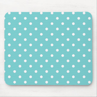 Teal Sky Polka Dot Mouse Pad