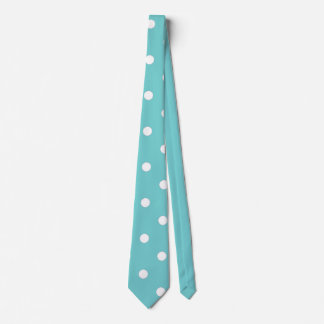 Teal Sky Polka Dot Neck Tie