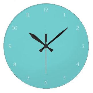 Teal Sky Wall Clock