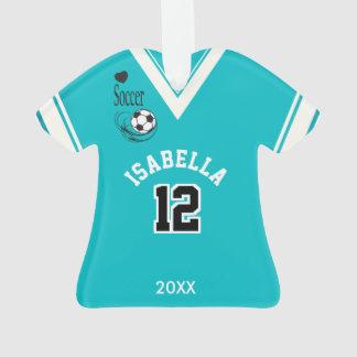 Teal Soccer Shirt Ornament