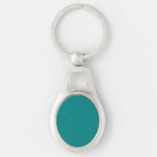 Teal Solid Color Key Chain