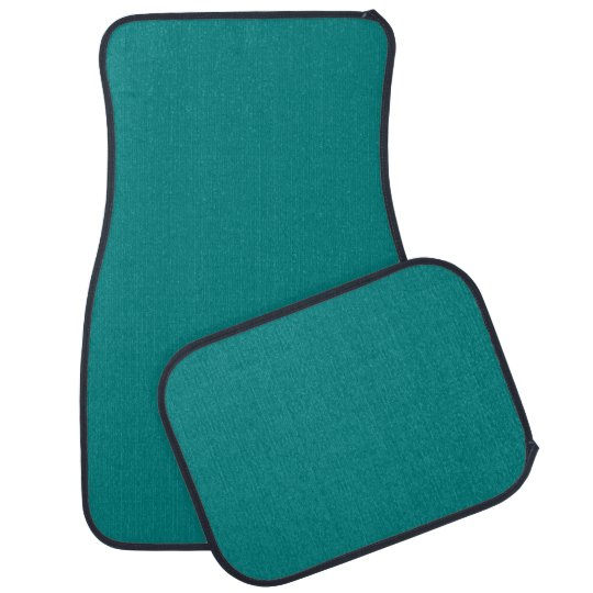 Teal Solid Colour Car Mat