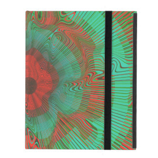 Teal Spiral Psychedelic iPad Folio Case