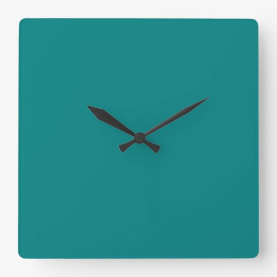Teal Square Wall Clock