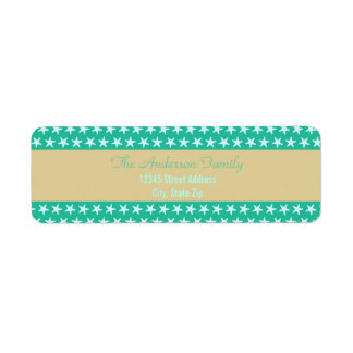 Teal Starfish Beach - Return Address Labels