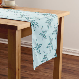 Teal Starfish Short Table Runner